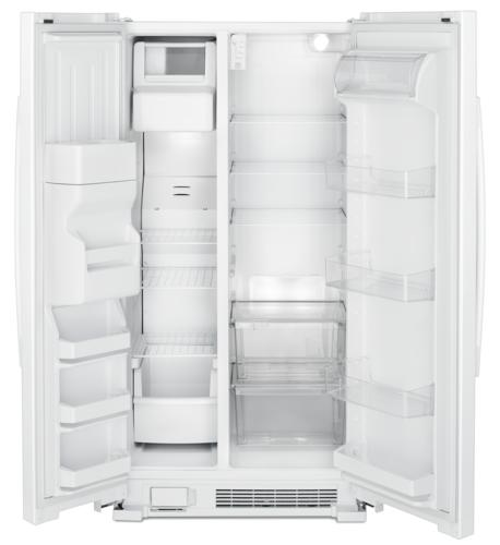 Amana 24 6 Cu Ft Side By Refrigerator At Menards