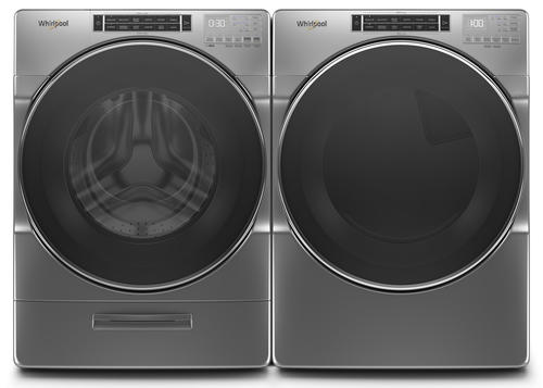 Whirlpool Front Load Washer Dryer Chrome Shadow Laundry Suite At Menards