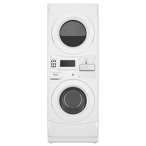 Whirlpool Coin Operated Commercial Electric Stacked Laundry Center 3 1 6 7 Cu Ft At Menards