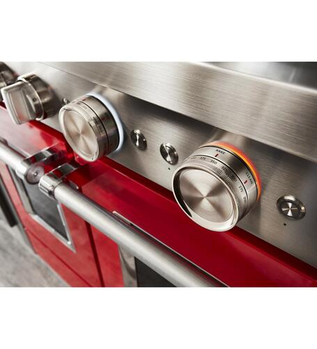 Kitchenaid 174 48 Quot Passion Red Gas 6 3 Cu Ft Range At Menards 174