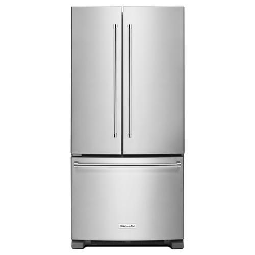 Kitchenaid 174 22 1 Cu Ft French Door Refrigerator At Menards 174