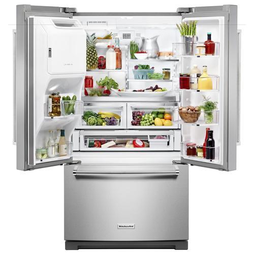 Kitchenaid 26 8 Cu Ft French Door Refrigerator At Menards