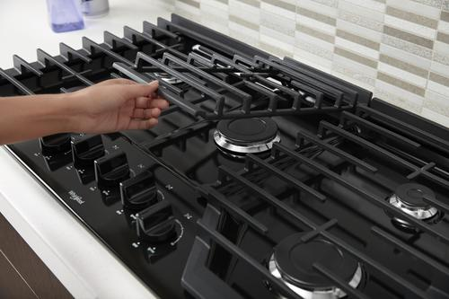 Whirlpool 36 Black Gas Cooktop At
