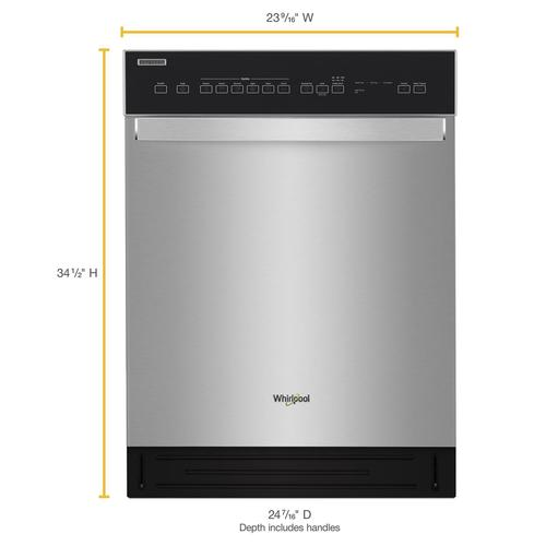 Whirlpool 174 24 Quot 6 Cycle Dishwasher At Menards 174