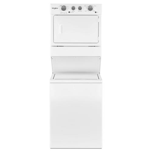 Whirlpool Electric Stacked Washer Dryer Laundry Center 3 5 5 9 Cu Ft At Menards