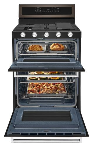 Kitchenaid 174 30 Quot Gas 6 0 Cu Ft Double Oven Convection