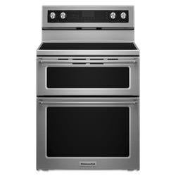 Kitchenaid 30 Electric Smoothtop 6 7 Cu Ft Double Oven Convection Range