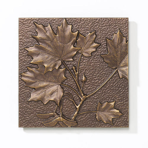 Whitehall Antique Copper Maple Leaf Outdoor Wall Art At Menards