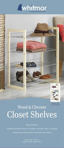 Whitmor® Natural Wood And Chrome Closet Shelves At Menards®