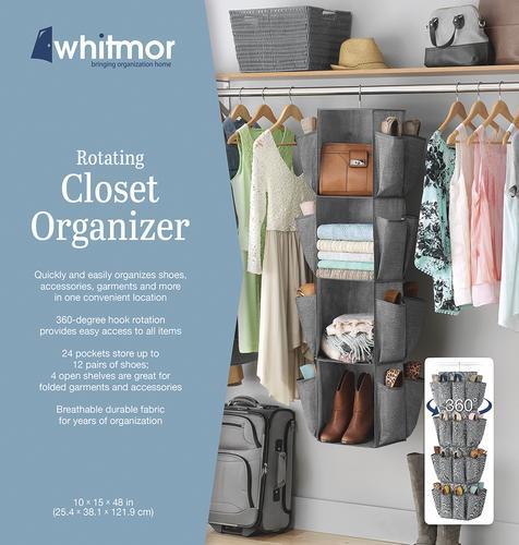 Whitmor® Crosshatch Gray Rotating Closet Organizer At Menards®