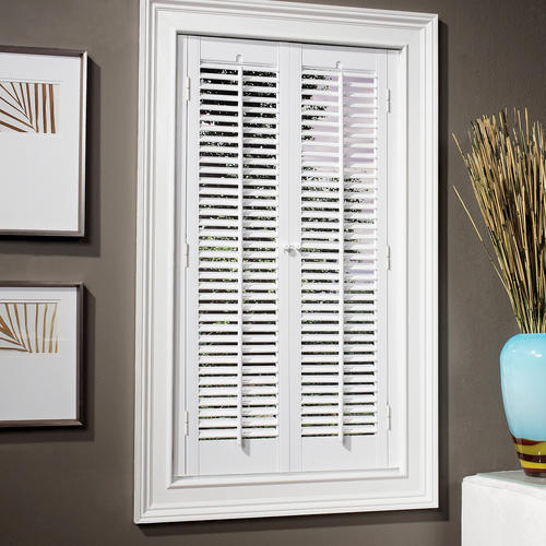 Homebasics Traditional Faux Wood Interior Shutter 23 25 W