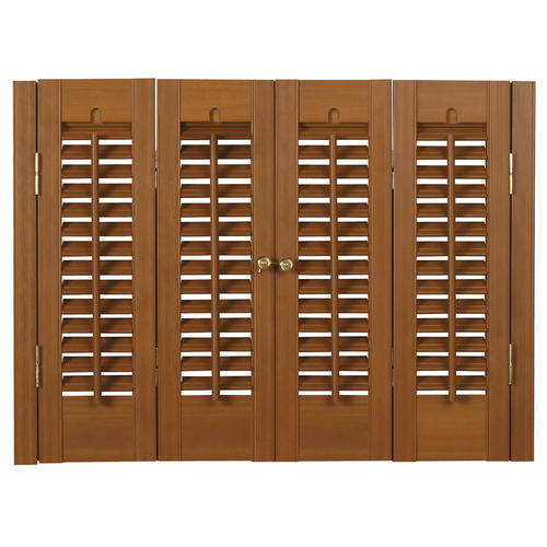 Homebasics Traditional Faux Wood Interior Shutter 39 41 W