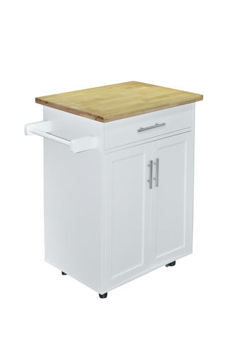 28 White Shaker Kitchen Cart At Menards