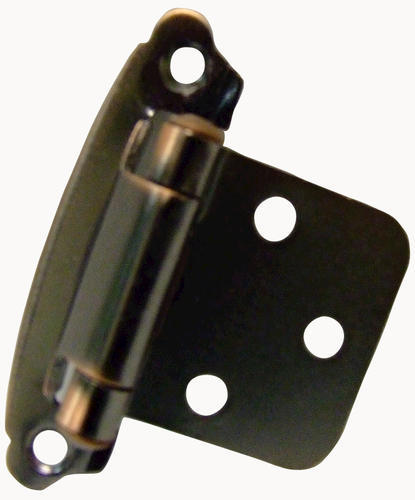 Oil-Rubbed Bronze Highlighted Hickory Hardware P244-OBH Surface Self-Closing Flush Hinge