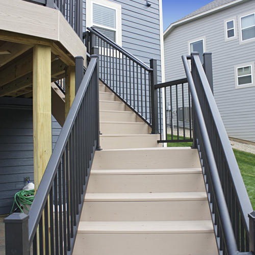 indoor railing kits for stairs railing stairs and.htm williams preassembled powder coated aluminum stair panel at menards    williams preassembled powder coated