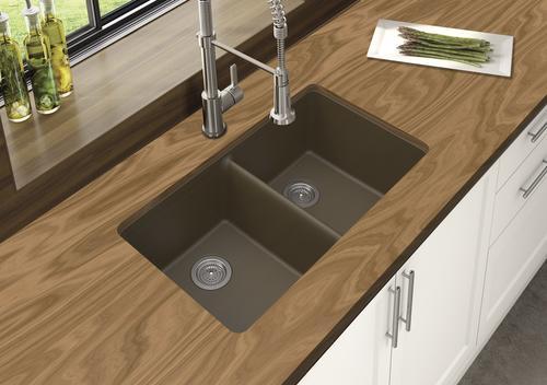 Winpro Undermount 33 Quot Quartz Double Equal Bowl Kitchen