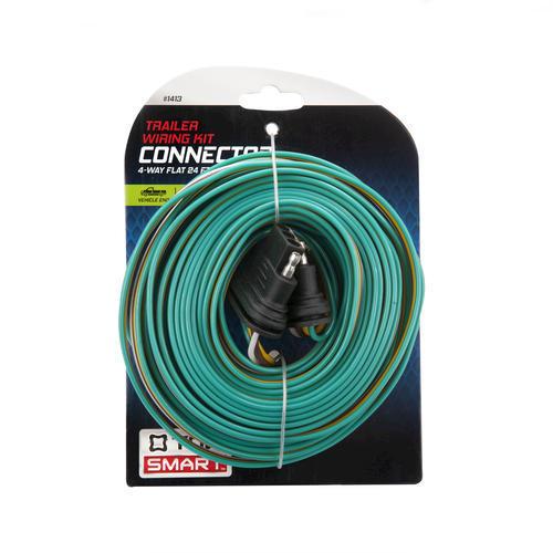 TowSmart® 24' 4-Way Flat Loop Trailer Wiring Kit Connector ... on