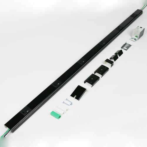 Legrand® - Wiremold® 3-ft Plugmold® Black Tamper-Resistant ...