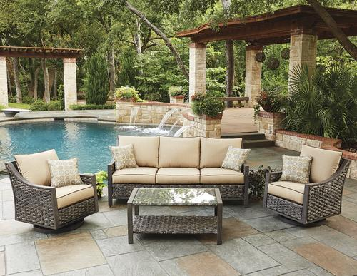Backyard Creations® Sheffield 4 Piece Deep Seating Patio Set At Menards®