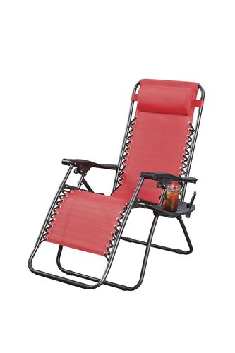 Guidesman Zero Gravity Lounger Patio Chair In Red