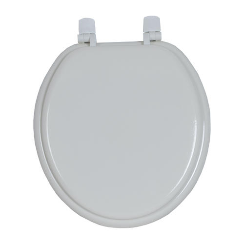Magnificent Classic Decor Round White Wood Toilet Seat At Menards Beatyapartments Chair Design Images Beatyapartmentscom