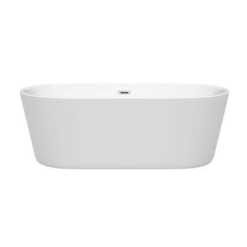 "Wyndham Collection Carissa 67"" W x 32"" D Freestanding Bathtub"
