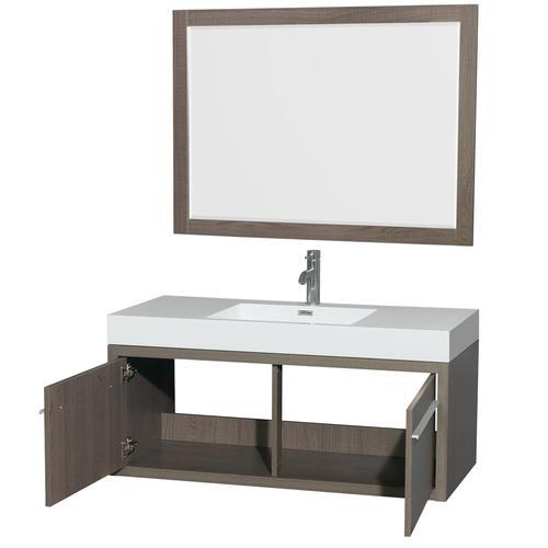 Axa 48 Inch Single Bathroom Vanity In Gray Oak Acrylic
