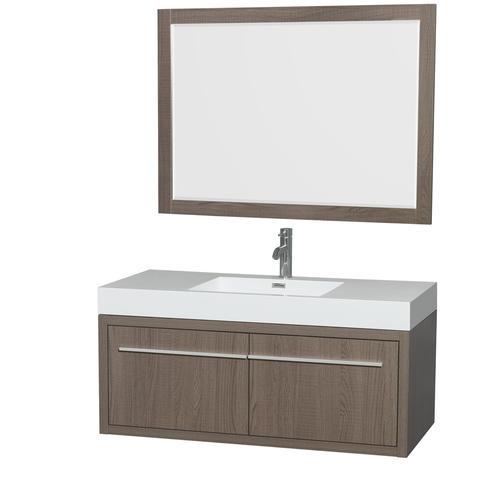 Axa 48 Inch Single Bathroom Vanity In Gray Oak, Acrylic ...