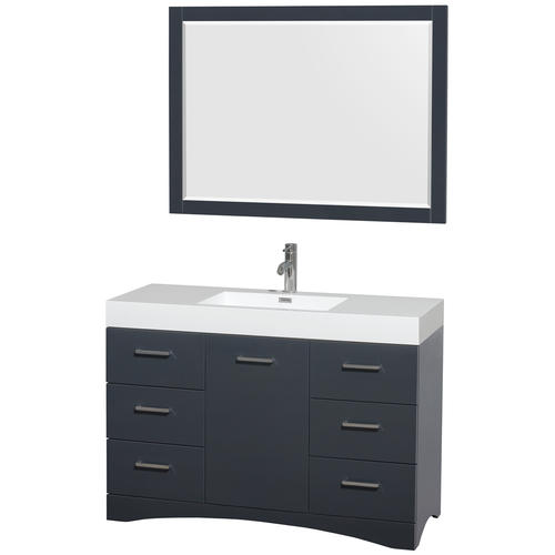 Delray 48 inch single bathroom vanity in clay acrylic - Menards bathroom vanities 48 inches ...
