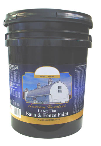 American Heartland Flat White Latex Barn Fence Paint 5 Gal At Menards