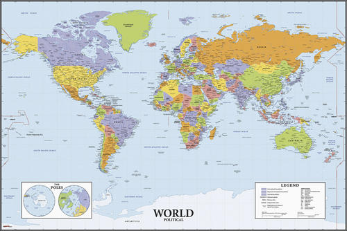 RoomMates World Map Dry Erase l and Stick Giant Wall ... on zodiac star map, gobi desert map, giant usa map, giant world map, size accurate world map, north china plain map, giant africa map,