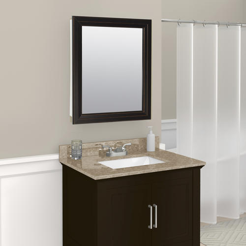 "Zenith Bathroom Cabinets: Zenith 24"" Oil-Rubbed Bronze Swing Door Medicine Cabinet"