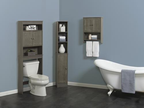 Zenna Home 23 25 W X 66 5 H Driftwood Gray Bathroom Spacesaver At