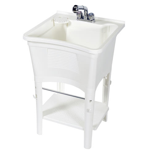 Merveilleux ErgoTub Freestanding Utility Sink With Pull Out Faucet At ...
