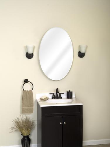Superbe Zenith Oval Mirror Medicine Cabinet At Menards®