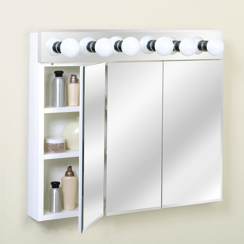Zenith 36 Quot Lighted Tri View Medicine Cabinet At Menards 174