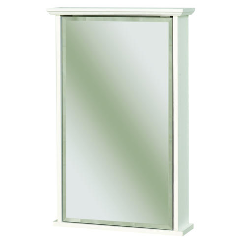 Zenith 16 White Swing Door Medicine Cabinet With Crown Pediment At
