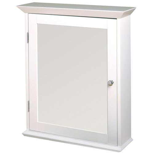 Zenith Wood Swing Door Medicine Cabinet White