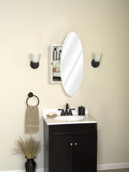 Zenith Oval Mirror Medicine Cabinet At Menards 174