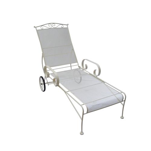 Wrought Iron Chaise Lounge Patio Chair