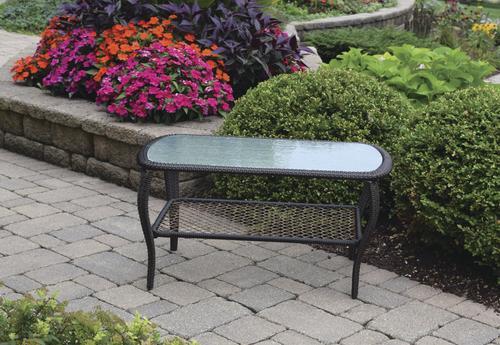 37aec6824d59 Backyard Creations® Maple Grove Rectangular Coffee Patio Table at ...