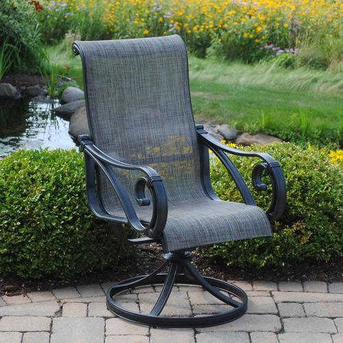 Backyard Creations Boulder Creek Swivel Rocker Patio Chair at