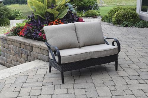 Exceptional Backyard Creations® Boulder Creek Patio Loveseat At Menards®