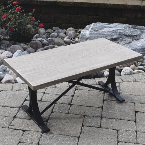 Backyard Creations® Boulder Creek Rectangular Coffee Patio Table At Menards®