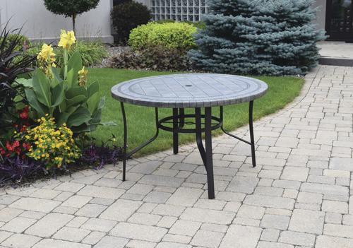 Backyard Creations Collins Round Dining Patio Table At Menards