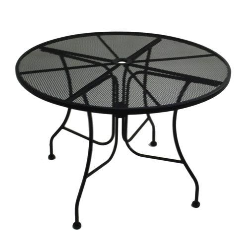 Furniture Legs Menards backyard creations® wrought iron round dining patio table at menards®