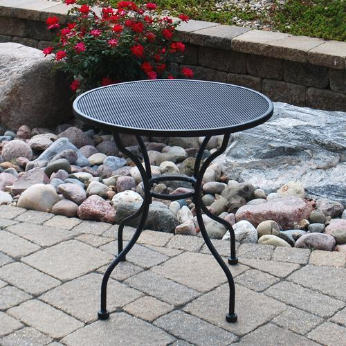 Backyard Creations® Wrought Iron Round Cafe Patio Table