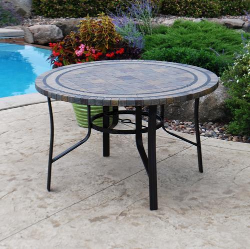 Beau Backyard Creations® Laguna Round Dining Patio Table At Menards®