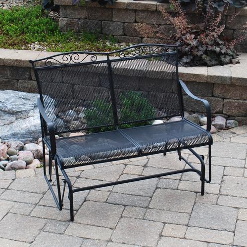 Backyard Creations® Wrought Iron Outdoor Glider At Menards®