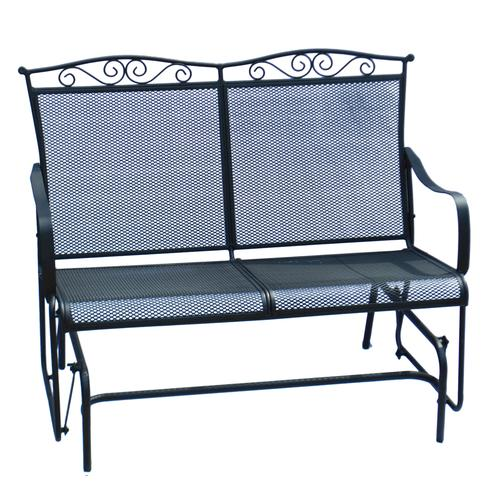 Attractive Backyard Creations® Wrought Iron Outdoor Glider At Menards®
